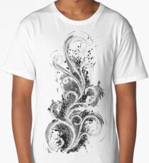 Abstract Flame Sketch Long T-Shirt