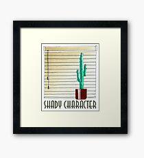 Shady Character Framed Print