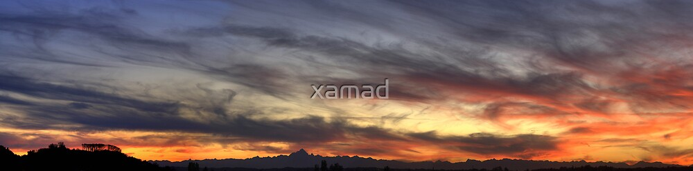 sunset over Monviso by xamad