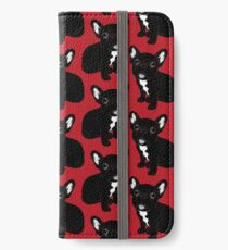 Cute Brindle Frenchie Puppy iPhone Wallet/Case/Skin