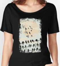 Birds on a wire Women's Relaxed Fit T-Shirt