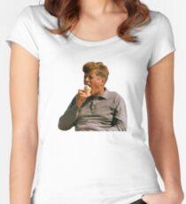 JFK Eating Ice Cream Women's Fitted Scoop T-Shirt