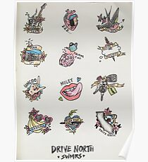 Drive North flash sheet Poster