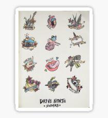 Drive North flash sheet Sticker