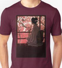 Vintage Japanese Geisha and Cherry Blossoms T-Shirt