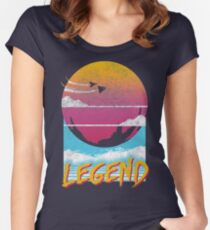 Legend Distressed Design Women's Fitted Scoop T-Shirt