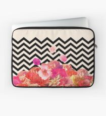 Chevron Flora II Laptop Sleeve