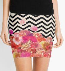 Chevron Flora II Mini Skirt