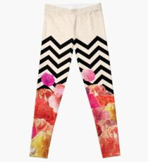 Chevron Flora II Leggings