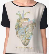 A Traveler's Heart Chiffon Top