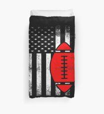 Funda nórdica Bandera americana Fútbol rojo