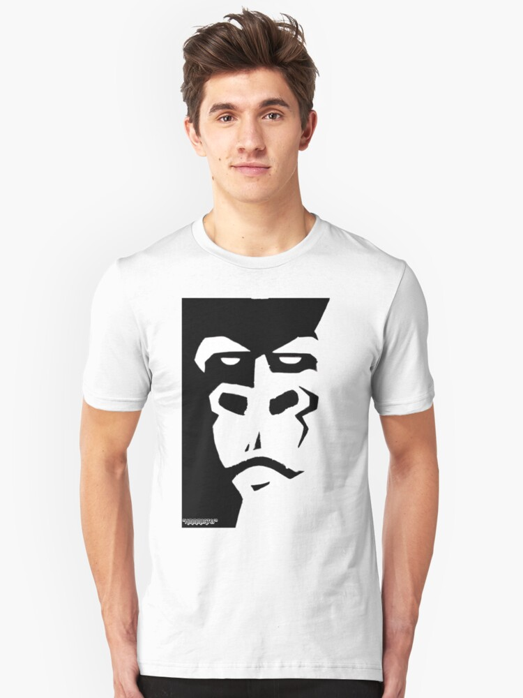 """monkey    """"only works with white"""" Unisex T-Shirt Front"""