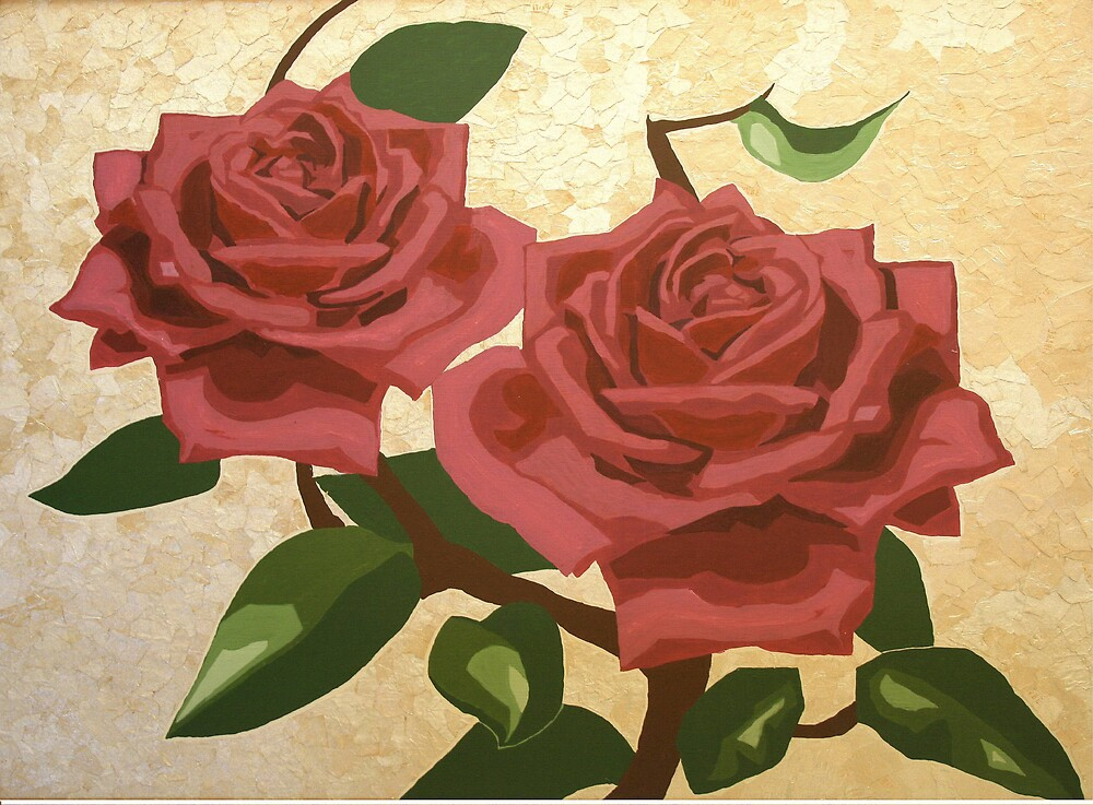 Red Roses by Retha Kruger