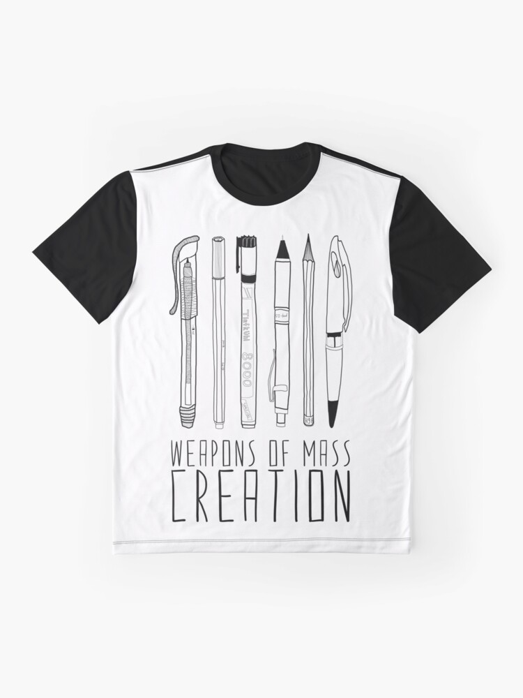 Alternate view of Weapons Of Mass Creation Graphic T-Shirt