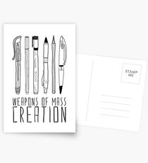 Weapons Of Mass Creation Postcards