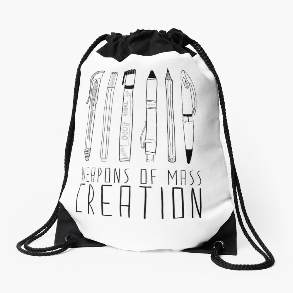 Weapons Of Mass Creation Drawstring Bag