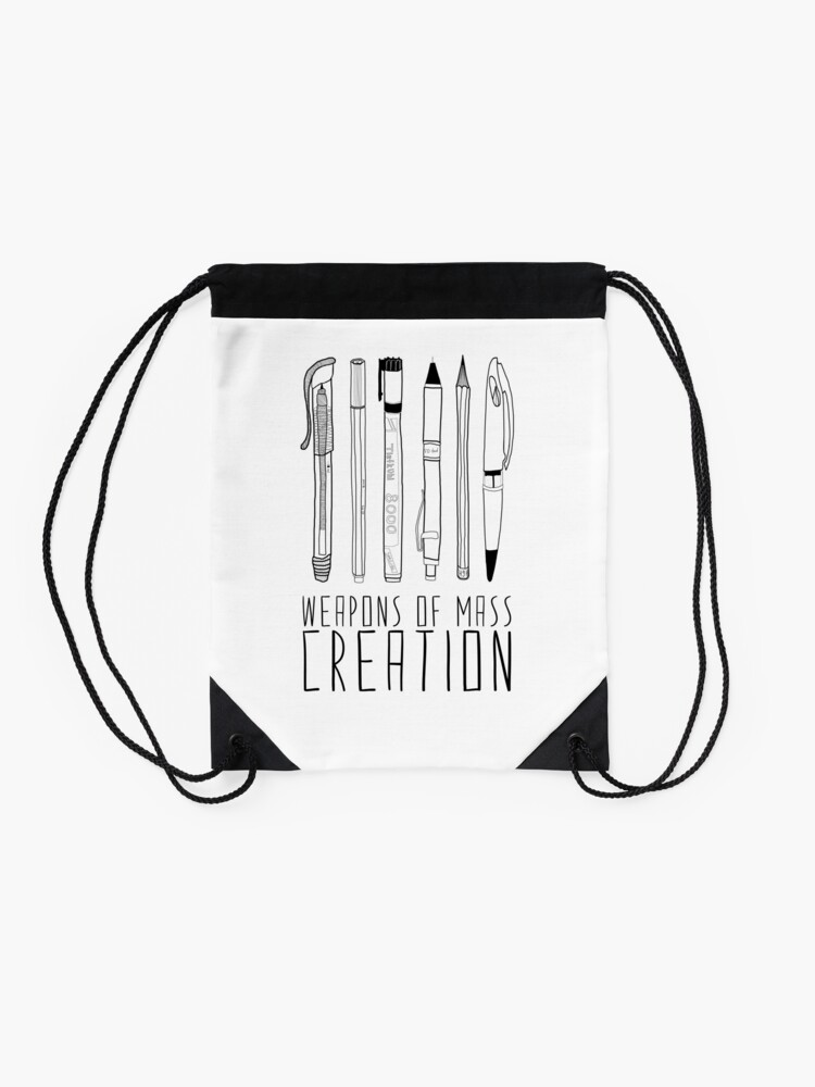 Alternate view of Weapons Of Mass Creation Drawstring Bag