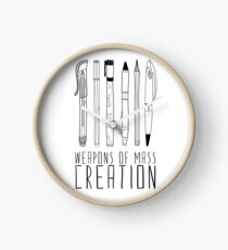 Weapons Of Mass Creation Clock