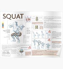 Exercise Diagram - Squat Poster