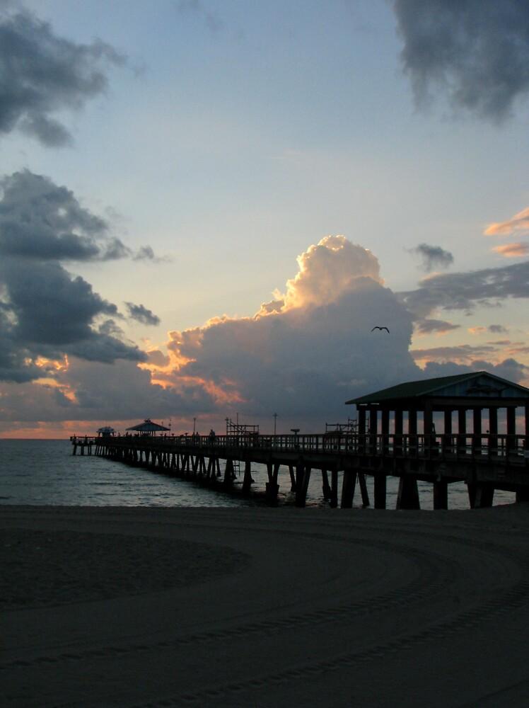 Sunrise Pier by Rebecca Cruz