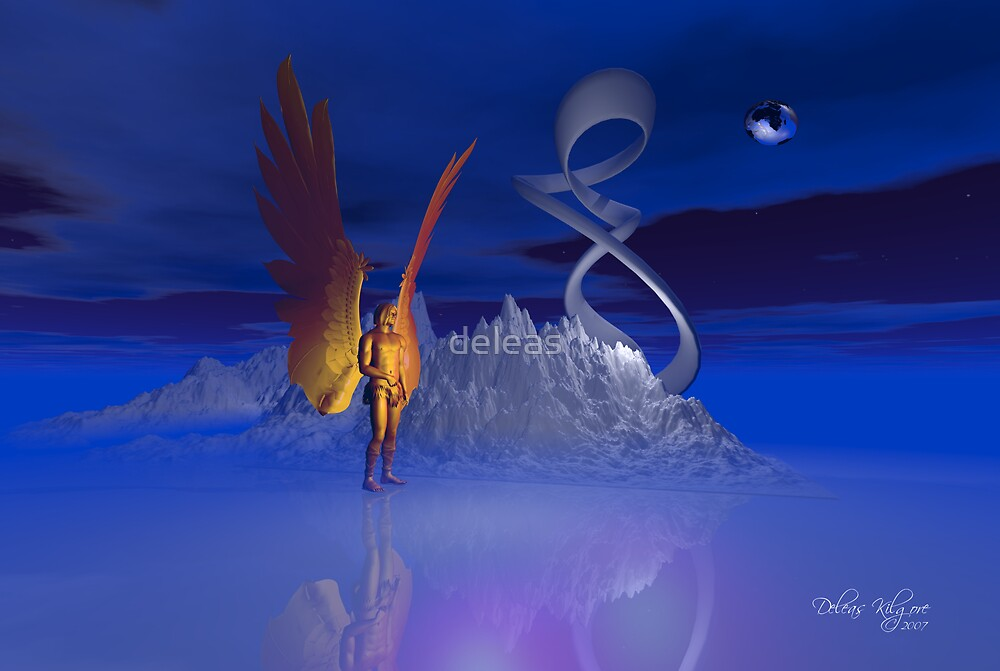 Ice World Angel by deleas