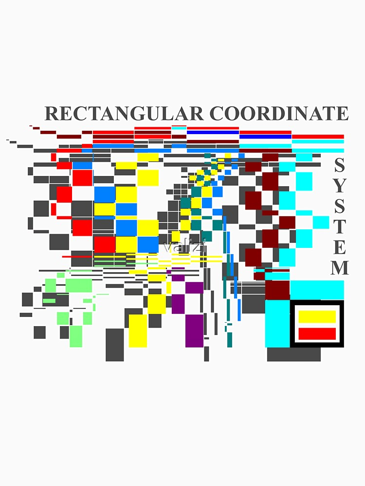 Rectangular coordinate system t-shirt by valizi