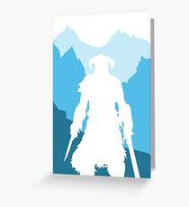 Dragonborn -  Blue Greeting Card