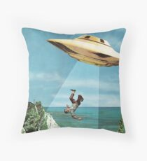 UFO Abduction Throw Pillow
