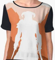 Dragonborn - Orange Chiffon Top