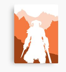 Dragonborn - Orange Canvas Print
