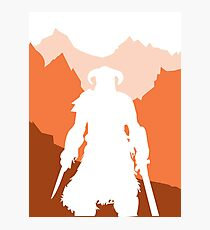 Dragonborn - Orange Photographic Print