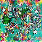 Time to Lead - Dancing Uniquorn mixed media  by mellierosetest