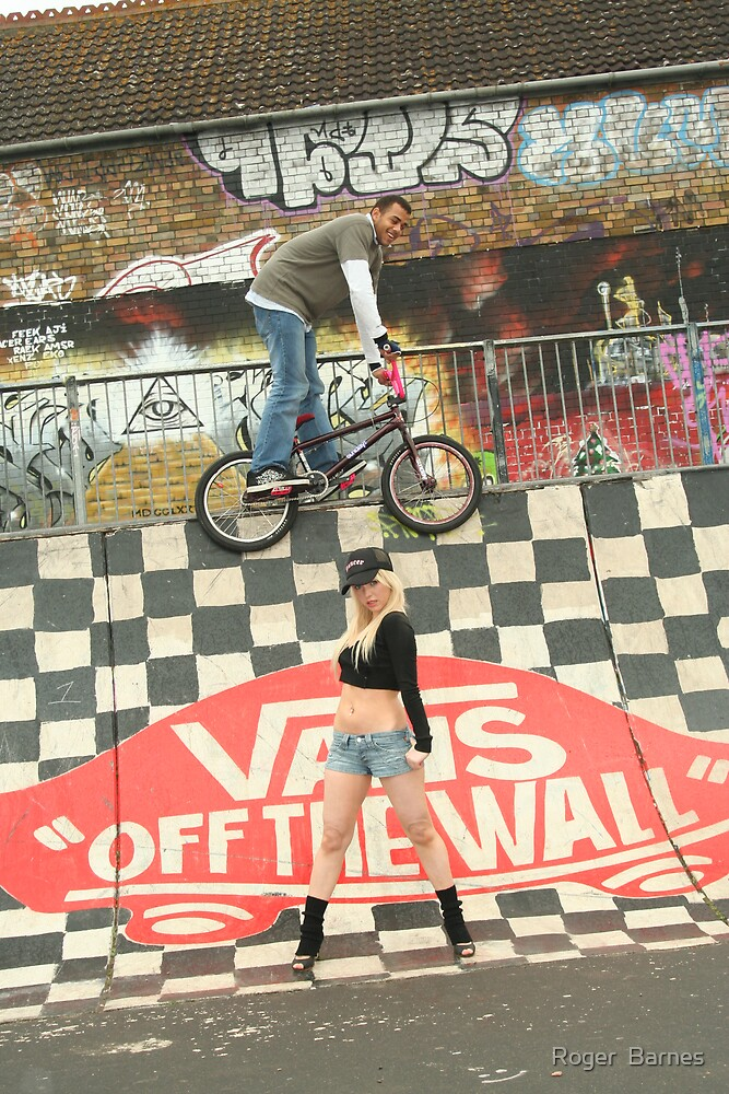 BMX over head by Roger  Barnes