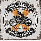 Vintage Power Speedmaster Poster von Marlene Watson
