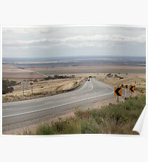Wide Open Road, Blanchetown,SA 2011 Poster