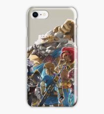 The Legend of Zelda - Breath of the Wild - Champion's Artwork - Link iPhone Case/Skin