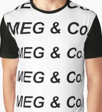 MEG & Co. Repeated Logo Graphic T-Shirt