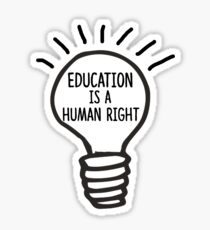 Education is a Human Right Sticker