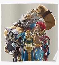 The Legend of Zelda - Breath of the Wild - Champion's Artwork - Zelda Poster