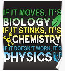 It's Biology It's Chemistry It's Physics T Shirt, Poster