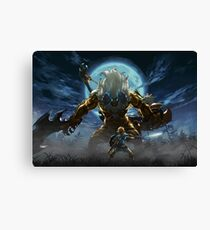 The Legend of Zelda - Breath of the Wild - Link vs Gold Lynel Canvas Print