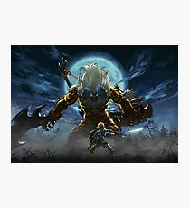 The Legend of Zelda - Breath of the Wild - Link vs Gold Lynel Photographic Print