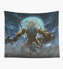 The Legend of Zelda - Breath of the Wild - Link vs Gold Lynel Wall Tapestry