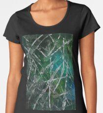 Modern Abstract Scratches - Green Women's Premium T-Shirt