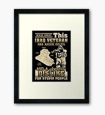 Iraq Veteran Framed Print