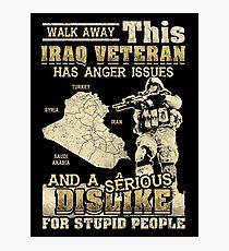 Iraq Veteran Photographic Print