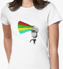 Colourful Surveillance Women's Fitted T-Shirt
