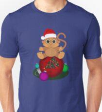 Christmas Monkey Unisex T-Shirt
