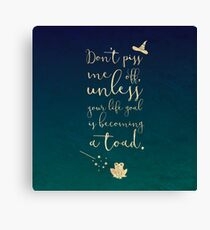 Don't Piss Me Off Muggle Canvas Print