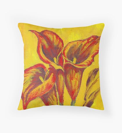 Fantasy Arums Throw Pillow